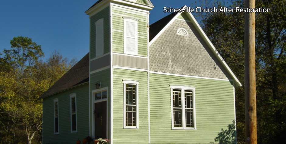 Stinesville Church after restoration