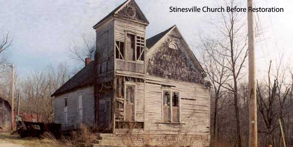 Stinesville Church before restoration